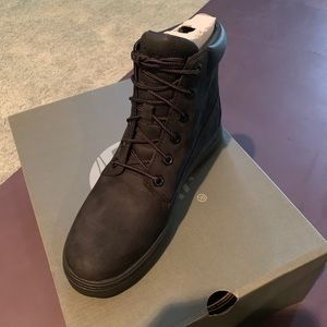 "Timberland Shoes - Londyn 6"" Boot Black Nubuck Sneaker Boot"